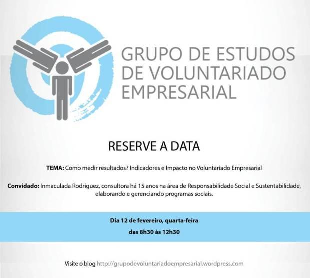 Reserve a data!  DIA 12 DE JANEIRO