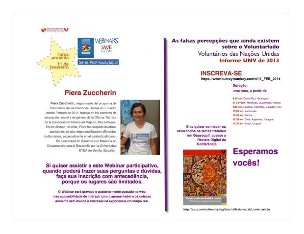 Participe do Webinar sobre voluntariado promovido pelo IAVE