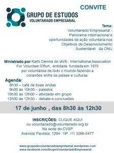 CONVITE grupo de voluntariado empresarial 17 06  Voluntariado Empresarial e os ODS