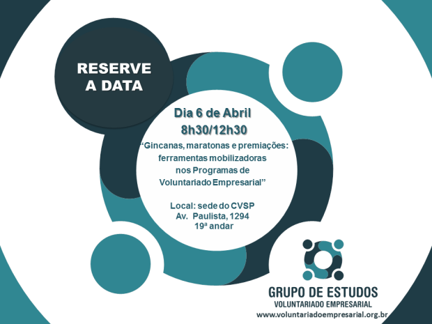 Save the date  6 de abril