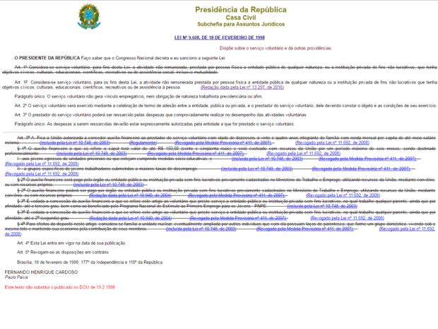 lei 960 1998 e TODAS SUAS ALTERAÇÕES   junho 2016