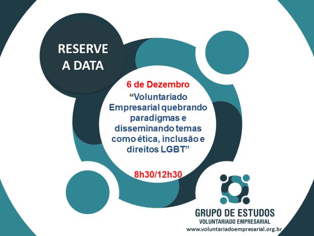 Save the date 6 de DEZEMBRO