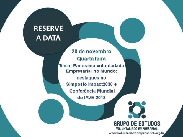 2018 Save the date 28 de novembro