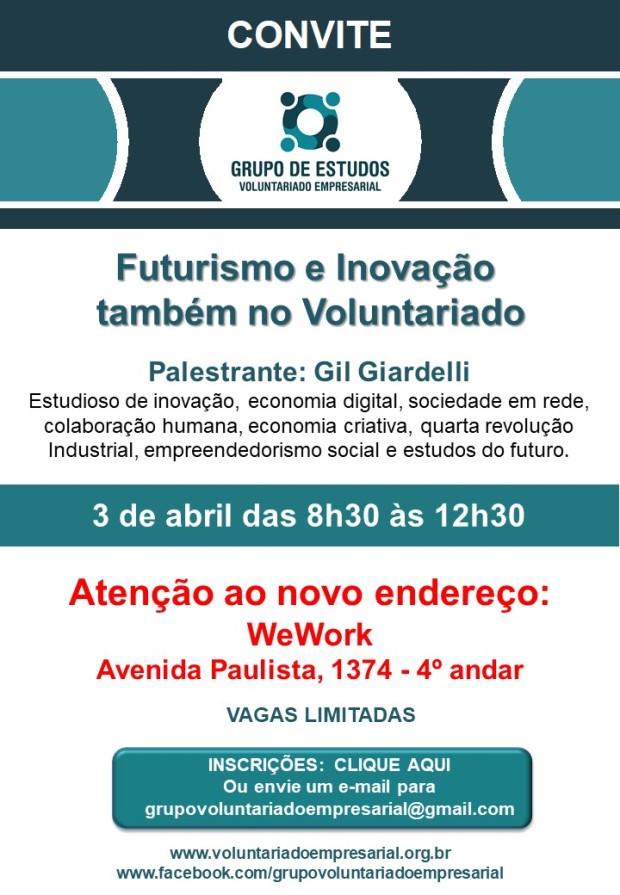 Convite 3042019 Grupo de Voluntariado Empresarial